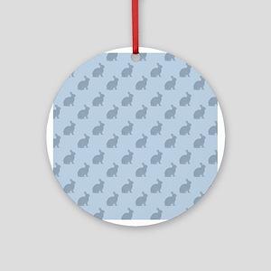 Blue Bunnies Ornament (Round)