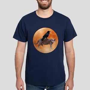 Cat Raven Moon Dark T-Shirt