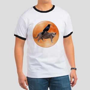 Cat Raven Moon Ringer T