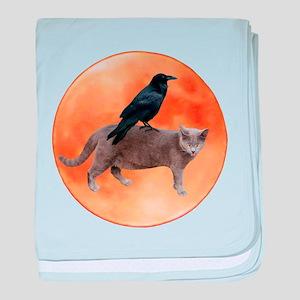 Cat Raven Moon baby blanket