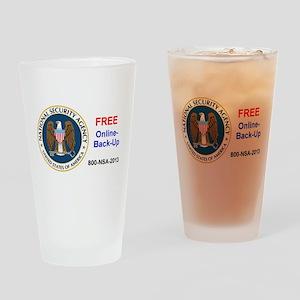 NSA Online Backup Drinking Glass