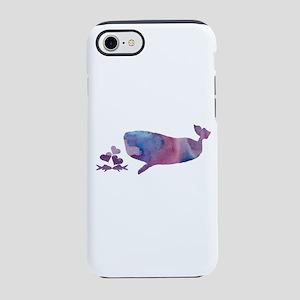 Whale eats fish couple iPhone 7 Tough Case