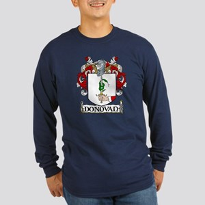 Donovan Coat of Arms Long Sleeve Dark T-Shirt