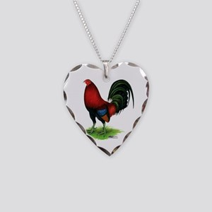 Dark Red Gamecock Necklace
