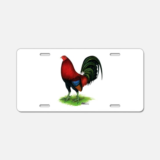 Dark Red Gamecock Aluminum License Plate