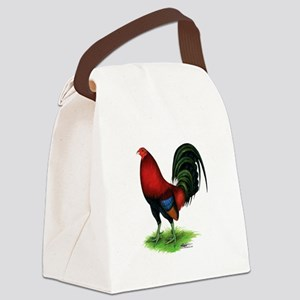 Dark Red Gamecock Canvas Lunch Bag