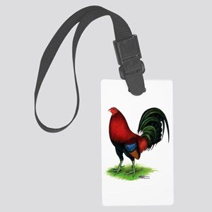 Dark Red Gamecock Luggage Tag