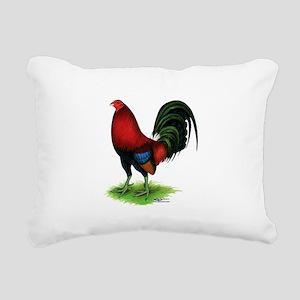 Dark Red Gamecock Rectangular Canvas Pillow