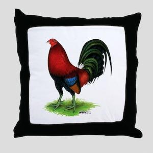 Dark Red Gamecock Throw Pillow