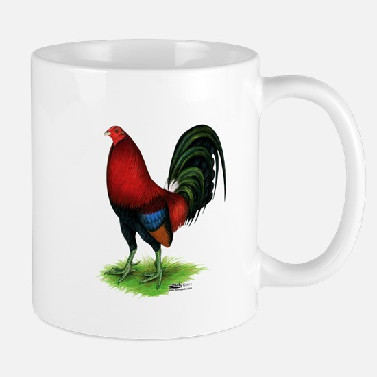 Dark Red Gamecock Mugs