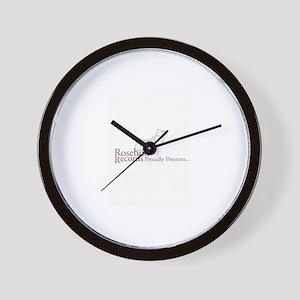 Rosebud Records Proudly Prese Wall Clock