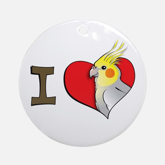 I heart cockatiels Ornament (Round)