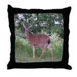 Doe in the Shade Throw Pillow