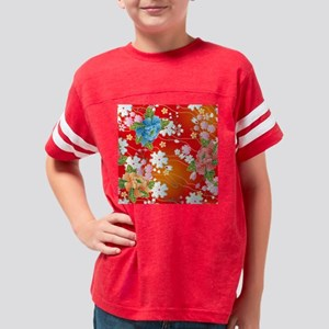 Japanese floral red Youth Football Shirt
