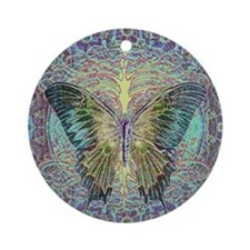 Butterfly and Tree of Life Ornament (Round)