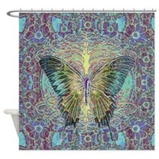 Butterfly and Tree of Life Shower Curtain
