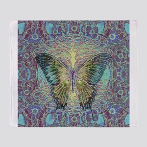 Butterfly and Tree of Life Throw Blanket