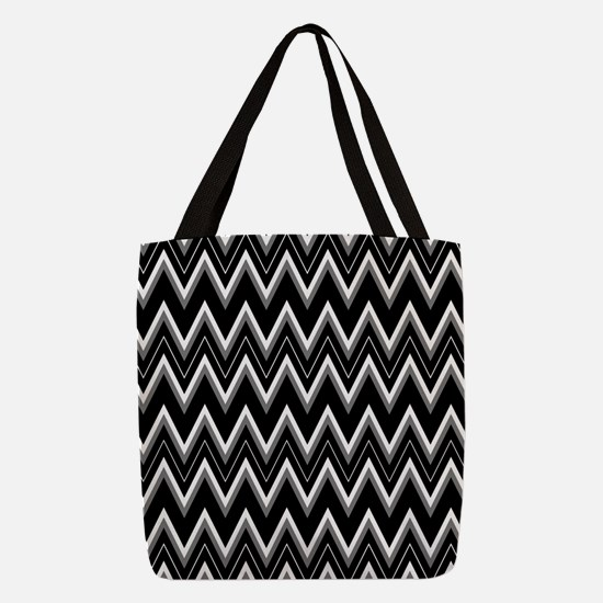 Gothic Chevron Pattern Polyester Tote Bag