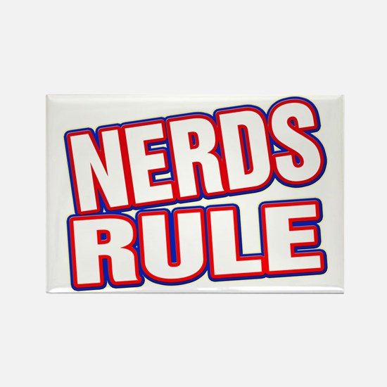 Nerds Rule Rectangle Magnet