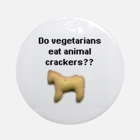 Animal Crackers Ornament (Round)
