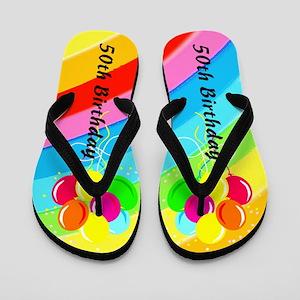 WONDERFUL 50TH Flip Flops