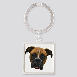 Boxer face005 Keychains