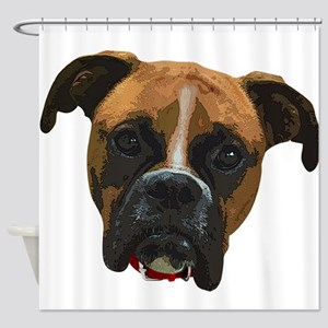 Boxer face005 Shower Curtain