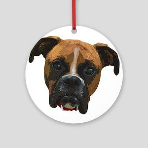 Boxer face005 Ornament (Round)
