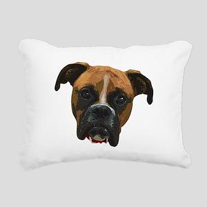 Boxer face005 Rectangular Canvas Pillow