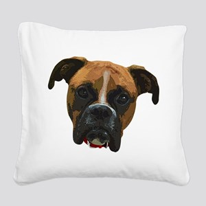Boxer face005 Square Canvas Pillow