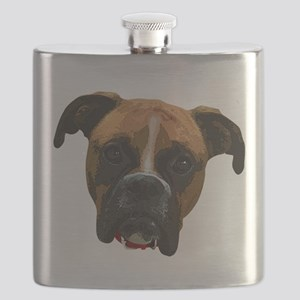 Boxer face005 Flask