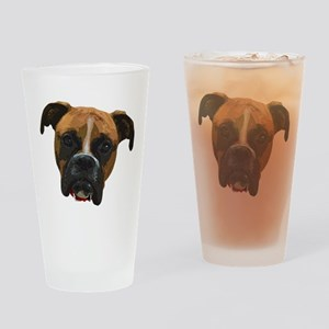 Boxer face005 Drinking Glass
