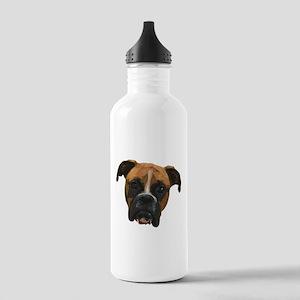 Boxer face005 Water Bottle