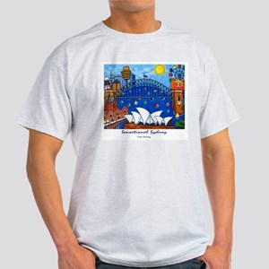 Sydney Painting On T-Shirt