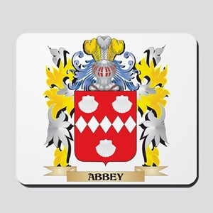Abbey Coat of Arms - Family Crest Mousepad