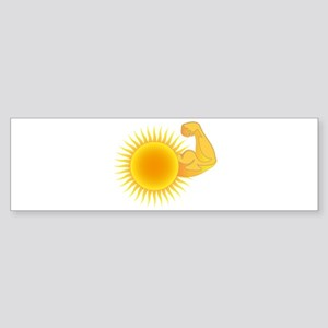 Solar Power Sun Bumper Sticker