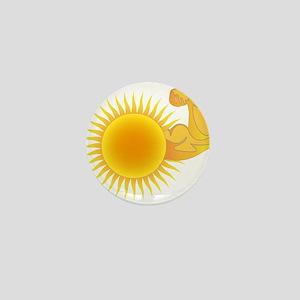 Solar Power Sun Mini Button