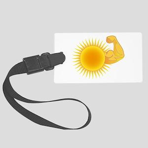 Solar Power Sun Luggage Tag