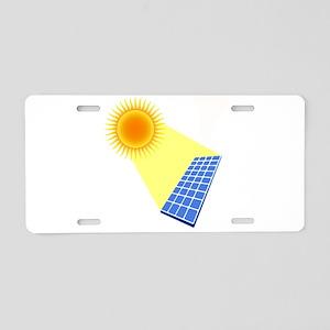 Solar Panel Under the Sun Aluminum License Plate