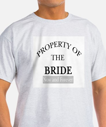 Property of the Bride Ash Grey T-Shirt