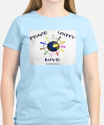 Peace Unity Love Women's Pink T-Shirt