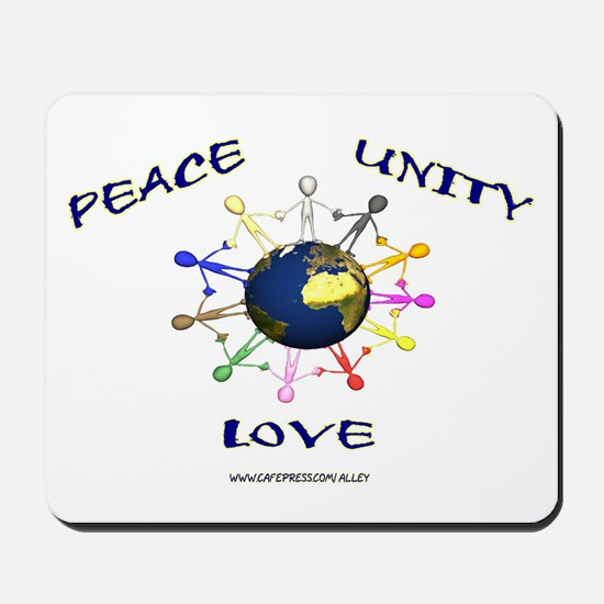 Peace Unity Love Mousepad