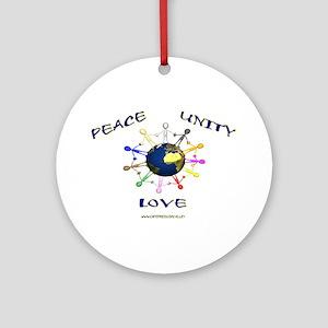 Peace Unity Love Ornament (Round)