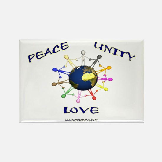 Peace Unity Love Rectangle Magnet (10 pack)