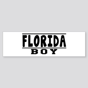 Florida Boy Designs Sticker (Bumper)