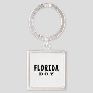 Florida Boy Designs Square Keychain