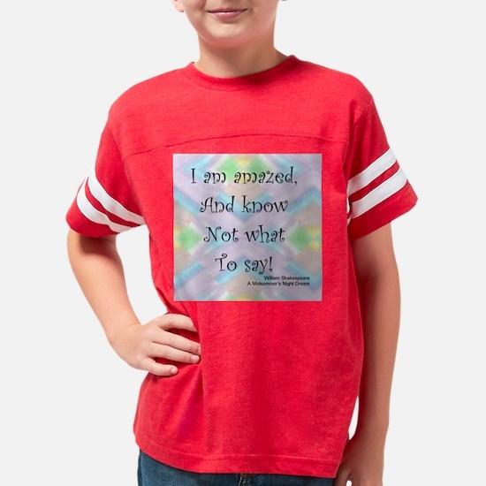 IAmAmazed2 Youth Football Shirt
