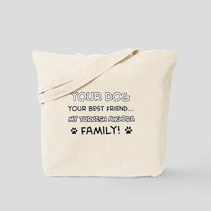 My turkish angora Cat is Family Tote Bag