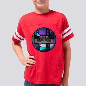 Siberian Husky Eyes Youth Football Shirt