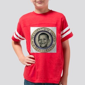 2-Presidential seal ornament Youth Football Shirt